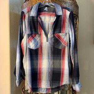 Mudd Girls XL Flannel Top/Tunic